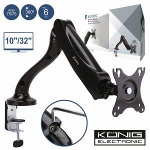 """Suporte Monitor Pc 10/32"""" Vesa 75/75 6kg Konig - (KNM-MM11)"""