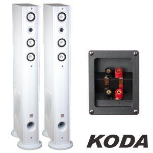 Conjunto 2 Colunas Hifi 4 Vias 120W Brancas Koda - (KODA92F-WH)