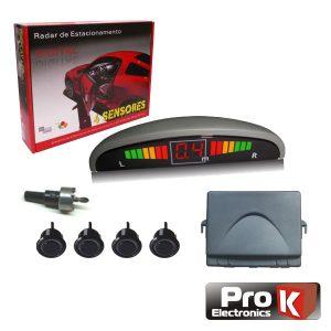 Kit De Estacionamento C/ 4 Sensores E Visor PROK - (KPS04LCD)