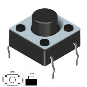 Comutador Micro Switch 6x6mm Altura 5mm - (KRS06060)
