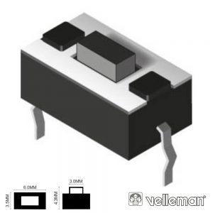 Comutador Micro Switch 6x3.5mm Altura 4.2mm VELLEMAN - (KRS0615)