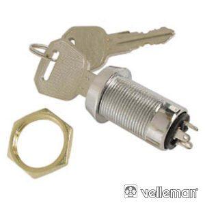 Interruptor C/ Chaves 1p On-On Spdt VELLEMAN - (KS2)