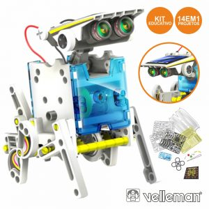 Kit Robô Solar Educativo 14 Em 1 VELLEMAN - (KSR13)