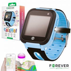 Smartwatch Gprs Lbs Sim Criança Azul FOREVER - (KW-50BL)