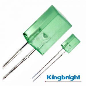 LED 5x5mm Alto Brilho Verde Difuso Kingbright - (L-1553GDT)