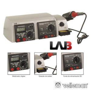 Unidade Laboratório 3 Em 1 VELLEMAN - (LAB1)