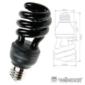 Lâmpada E27 15W 230V T3 Espiral UV Baixo Consumo - (LAE1F8F)