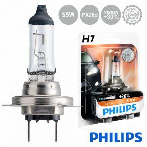 Lâmpada P/ Automóvel 12V H7 Px26d 55W Vision+30 Philips - (LAMP-H7-PH)