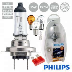 Lâmpada P/ Automóvel 12V H7 Px26d 55W Premium Philips - (LAMP-H7-PH/2)