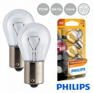 Lâmpada P/ Automóvel 12V P21W Ba15s Vision Philips - (LAMP-P21W-PH)