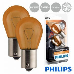 Lâmpada P/ Automóvel 12V Py21W Bau15s Vision Philips - (LAMP-PY21W-PH)