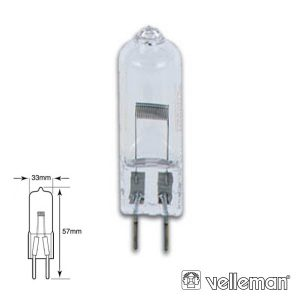 Lâmpada G6.35 250W 24V Halogéneo Ehj VELLEMAN - (LAMP250/24EHJE)
