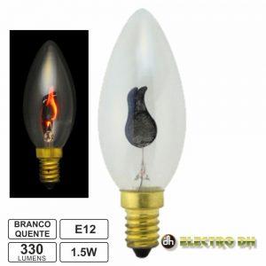 Lâmpada E12 1.5W 230V Efeito Chama 330lm - (12.611)