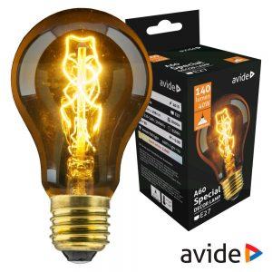 Lâmpada E27 40W Filamento 2200K 140lm AVIDE Edison - (ASDE27-A60-40W)