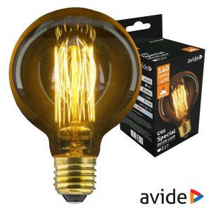 Lâmpada E27 G95 40W Filamento 2200K 140lm AVIDE Edison - (ASDE27-G95-40W)