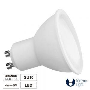 Lâmpada GU10 4W 230V LED Dicróica 4000K 320lm FOREVER - (LLGU04NW(F))