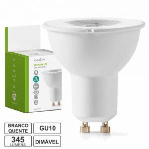 Lâmpada LED GU10 Dimável 4.9W 230V 2700k 345lm - (LLDGU05WW(N))