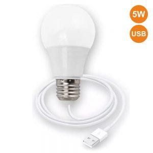 Lâmpada LED C/ Ligação USB 5W 460lm - (ELL170)