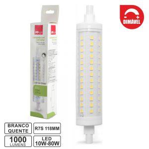 Lâmpada R7s 10W 230V LED Dimável 3000k 1000lm - (LS516-15WW)