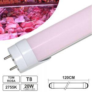 Lâmpada Tubular 20W 120cm LEDS T8 Rosa P/ Talho - (LLTT812020R(B))
