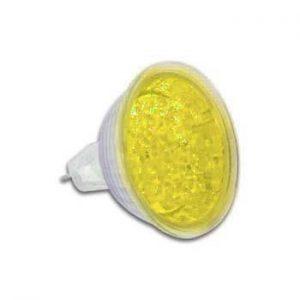 Lâmpada MR16 12V 18 LEDS Amarela VELLEMAN - (LAMPL12Y)