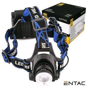 Lanterna De Cabeça 1 LED 5W 600LM ENTAC - (EHL-ZOOM-5W-ALU)