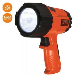 Lanterna 1 LED 3W Ergonómica C/ Punho 375lm Black Decker - (BD17198)