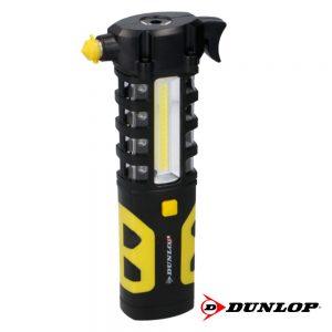 Lanterna 1 LED + Luz Trabalho Íman E Quebra Vidros Dunlop - (DUN438)