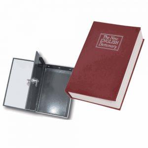 Cofre Metálico em Formato de Livro 18x11.5x5.5cm - (LAR155A)