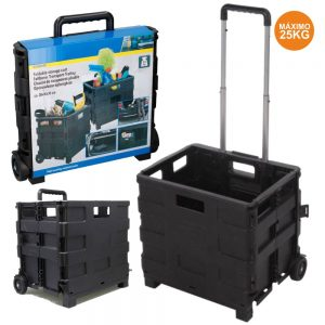 Caixa Dobrável P/ Transporte C/ Trolley - (LAR688)