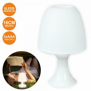 Candeeiro Decorativo 6 LEDS Brancos A Pilhas - (LAR883)