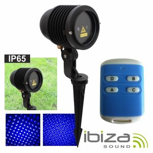 Laser 100mW Azul Exterior Comando IP65 IBIZA - (LAS-B-OUTDOOR)