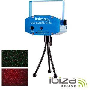 Laser 130mW Vermelho/Verde Firefly Azul IBIZA - (LAS-S130RG-M-BL)