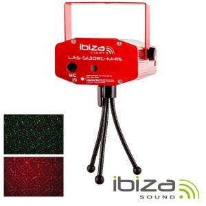 Laser 130mW Vermelho/Verde Firefly Vermelho IBIZA - (LAS-S130RG-M-RE)