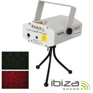 Laser 130mW Vermelho/Verde Firefly Branco IBIZA - (LAS-S130RG-M-WH)