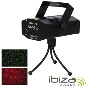 Laser 130mW Vermelho/Verde Firefly Preto IBIZA - (LAS-S130RG-MULTI)