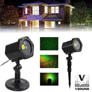 Laser 120mW Vermelho/Verde Exterior VSOUND - (VSLASEROUT120)