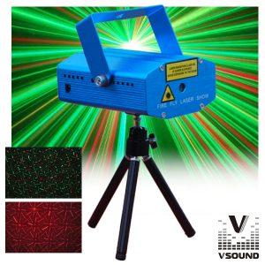 Laser 130mW Vermelho/Verde Star VSOUND - (LASERMINI130)