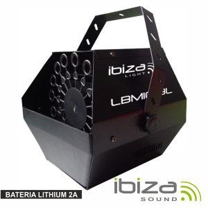 Máquina De Bolhas 25W Preta Bat Lithium 2a IBIZA - (LBM10BAT-BL)