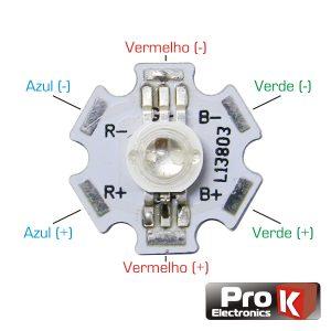 LED Alto Brilho 3W RGB PROK - (LED03RGB)
