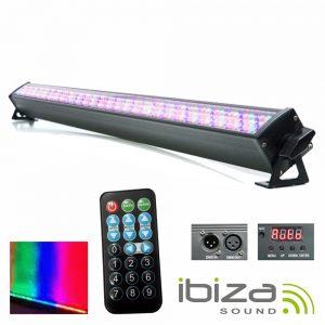 Barra De LEDS C/ Strobe 240 LEDS 10mm RGB DMX IBIZA - (LEDBAR252-RC)