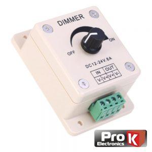 Regulador De Luz LED Dimmer Branco 12V 8a 96W PROK - (LEDDIMMER12V8A)