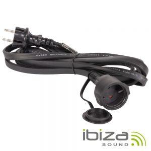 Cabo Alimentação P/ Luz de Natal De LEDS 230V IP44 3m IBIZA - (LEDSTRING-EXTCAB)