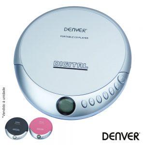 Leitor De CD Portátil Discman Multicor DENVER - (DM-25C)