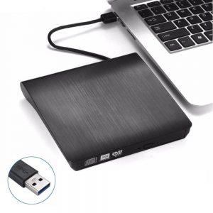 Leitor Cd/Cd-RW/Dvd Externo Slim USB 3.0 Preto - (EXT-DRIVEDVD02BK)