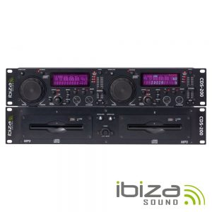 Leitor Cd/USB/SD Duplo Scratch IBIZA - (CDS-200)