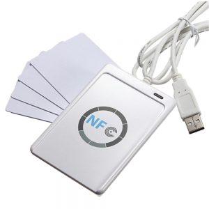 Leitor E Programador NFC Por USB C/ 4 Cartões Rfid + SDk - (RFID04A)