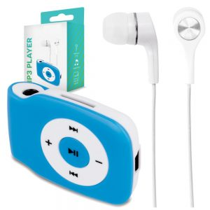 Leitor Mp3 C/ Auscultadores Micro SD Azul - (MP3PLAYER-BL)