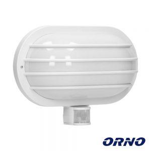 Aplique Oval C/ Sensor Movimentos PIR E27 IP44 Branco ORNO - (LF-2/W)