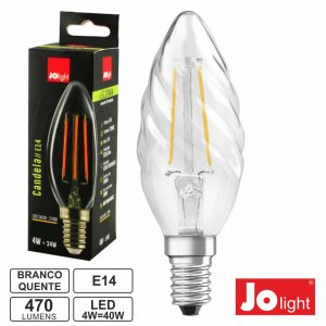 Lâmpada E14 4W 230V LED Filamento Chama 2700k 470lm Opaca - (LF138/1WW)
